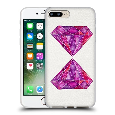 OFFICIAL CAT COQUILLETTE WATERCOLOURED GEMS Rhodolite Soft Gel Case for Apple iPhone 7 Plus