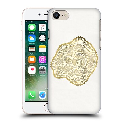 OFFICIAL CAT COQUILLETTE NATURE Gold Peach Leaf Hard Back Case for Apple iPhone 7