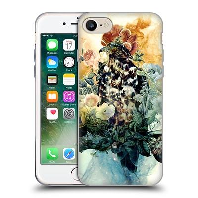 OFFICIAL RIZA PEKER ANIMALS 2 Bird In Flowers Soft Gel Case for Apple iPhone 7