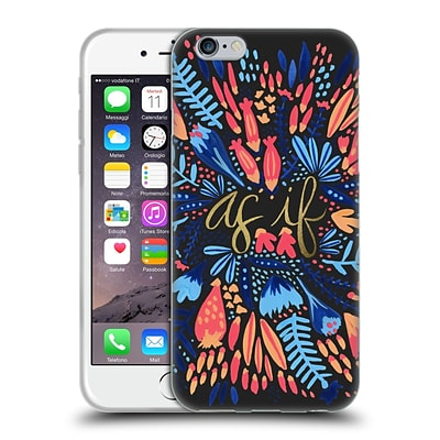 OFFICIAL CAT COQUILLETTE QUOTES TYPOGRAPHY 2 As If Multi Black Soft Gel Case for Apple iPhone 6 / 6s