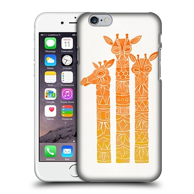 OFFICIAL CAT COQUILLETTE ANIMALS Orange Ombre Girrafes Hard Back Case for Apple iPhone 6 / 6s