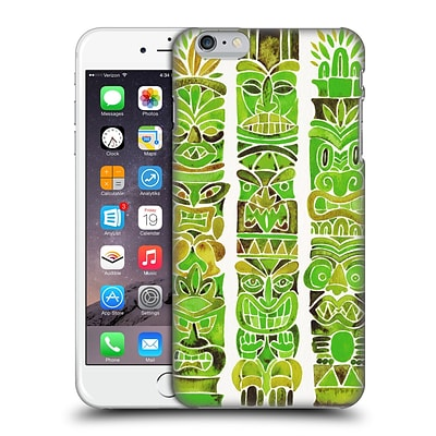 OFFICIAL CAT COQUILLETTE WATERCOLOUR ILLUSTRATIONS 2 Green Tiki Totems Hard Back Case for Apple iPhone 6 Plus / 6s Plus