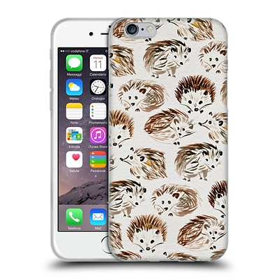 OFFICIAL CAT COQUILLETTE ANIMALS Hedgehogs Soft Gel Case for Apple iPhone 6 / 6s