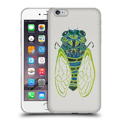 OFFICIAL CAT COQUILLETTE INSECTS Cicada Blue Soft Gel Case for Apple iPhone 6 Plus / 6s Plus