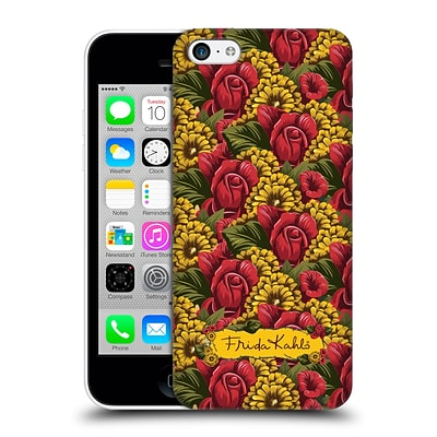 OFFICIAL FRIDA KAHLO RED FLORALS Pattern Hard Back Case for Apple iPhone 5c