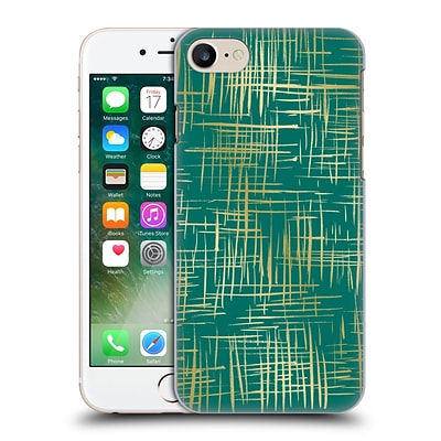 OFFICIAL CAITLIN WORKMAN PATTERNS Cross Hatch Emerald Hard Back Case for Apple iPhone 7