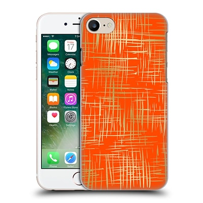 OFFICIAL CAITLIN WORKMAN PATTERNS Cross Hatch Orange Hard Back Case for Apple iPhone 7