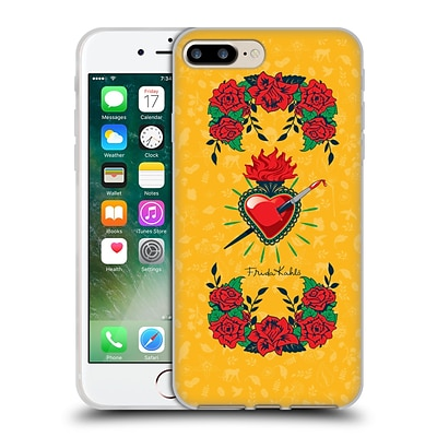 OFFICIAL FRIDA KAHLO ICONS Heart and Roses Soft Gel Case for Apple iPhone 7 Plus