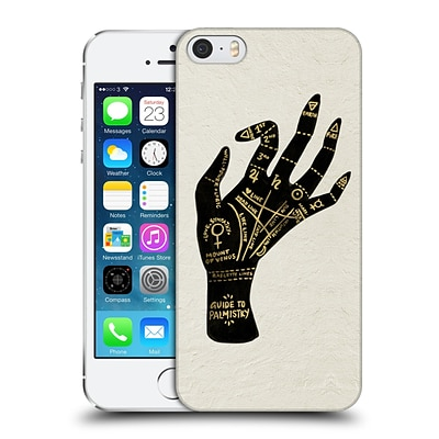 OFFICIAL CAT COQUILLETTE WATERCOLOUR ILLUSTRATIONS Palmistry Black Hard Back Case for Apple iPhone 5 / 5s / SE