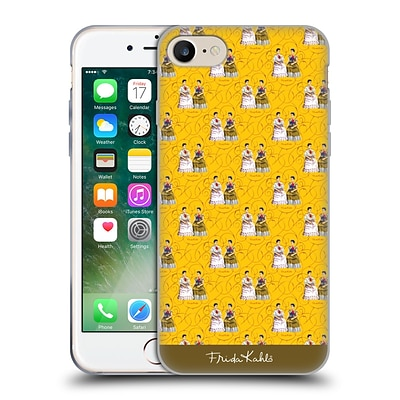 OFFICIAL FRIDA KAHLO SELF-PORTRAITS Pattern Yellow Soft Gel Case for Apple iPhone 7