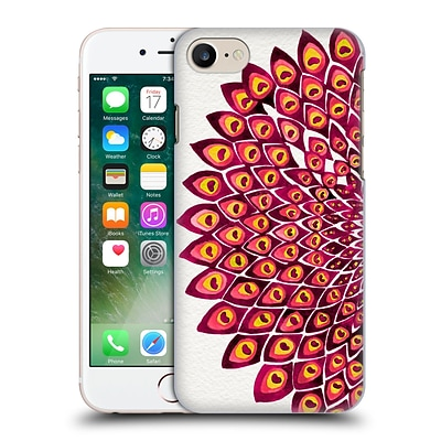 OFFICIAL CAT COQUILLETTE MANDALA Peacock Pink Hard Back Case for Apple iPhone 7