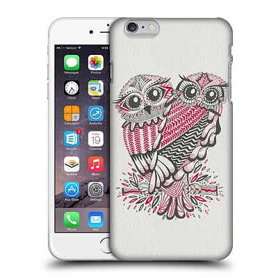 OFFICIAL CAT COQUILLETTE BIRDS Owls Grey Red Hard Back Case for Apple iPhone 6 Plus / 6s Plus