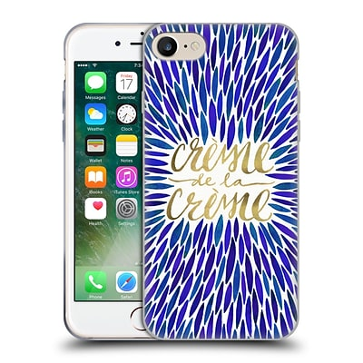 OFFICIAL CAT COQUILLETTE QUOTES TYPOGRAPHY 2 Creme De La Creme Navy Soft Gel Case for Apple iPhone 7