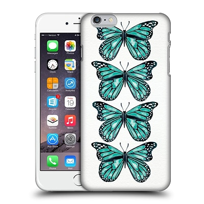 OFFICIAL CAT COQUILLETTE INSECTS Turquoise Butterfly Hard Back Case for Apple iPhone 6 Plus / 6s Plus