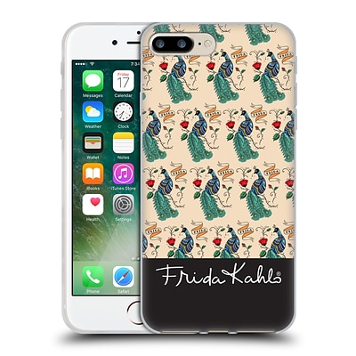 OFFICIAL FRIDA KAHLO PEACOCK Pattern Soft Gel Case for Apple iPhone 7 Plus