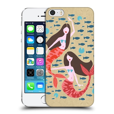 OFFICIAL CAT COQUILLETTE WATERCOLOUR ILLUSTRATIONS Mermaids Craft Hard Back Case for Apple iPhone 5 / 5s / SE