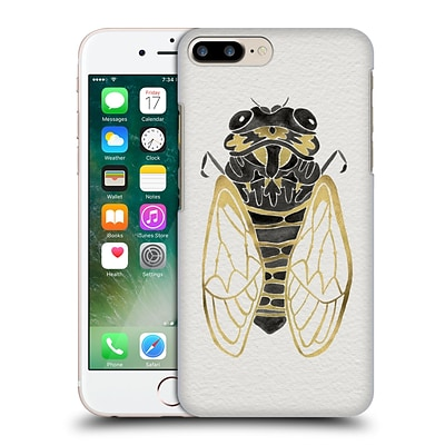OFFICIAL CAT COQUILLETTE INSECTS Cicada Gold Black Hard Back Case for Apple iPhone 7 Plus