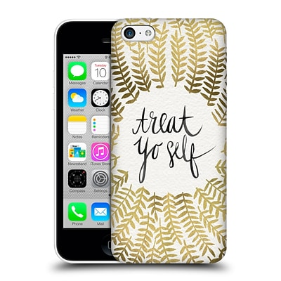 OFFICIAL CAT COQUILLETTE TREAT YO SELF Gold Hard Back Case for Apple iPhone 5c