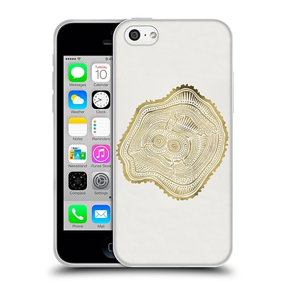 OFFICIAL CAT COQUILLETTE NATURE Gold Peach Leaf Soft Gel Case for Apple iPhone 5c