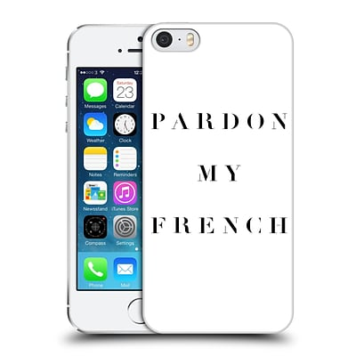 OFFICIAL CAITLIN WORKMAN TYPOGRAPHY Pardon My French Hard Back Case for Apple iPhone 5 / 5s / SE