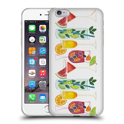 OFFICIAL CAT COQUILLETTE MIXED DRINKS Summer Drinks Soft Gel Case for Apple iPhone 6 Plus / 6s Plus