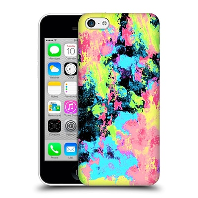 OFFICIAL CALEB TROY VIVID Blacklight Neon Swirl Hard Back Case for Apple iPhone 5c