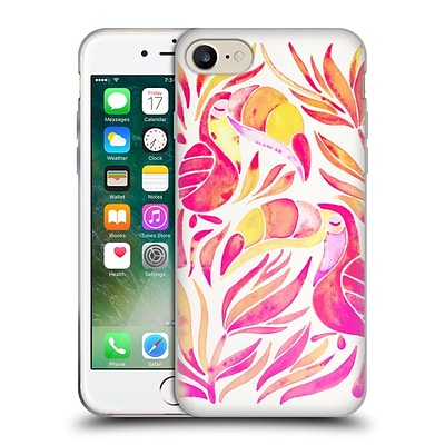 OFFICIAL CAT COQUILLETTE BIRDS Toucans Melon Ombre Soft Gel Case for Apple iPhone 7