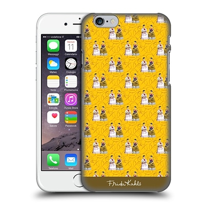 OFFICIAL FRIDA KAHLO SELF-PORTRAITS Pattern Yellow Hard Back Case for Apple iPhone 6 / 6s