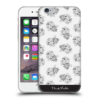 OFFICIAL FRIDA KAHLO TYPOGRAPHY White Heart Soft Gel Case for Apple iPhone 6 / 6s