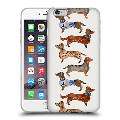 OFFICIAL CAT COQUILLETTE ANIMALS Dachshunds Soft Gel Case for Apple iPhone 6 Plus / 6s Plus