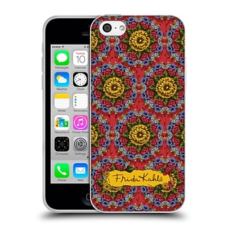 OFFICIAL FRIDA KAHLO RED FLORALS Mandala Soft Gel Case for Apple iPhone 5c