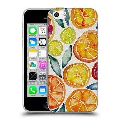 OFFICIAL CAT COQUILLETTE FRUITS & VEGGIES Citrus Slices Soft Gel Case for Apple iPhone 5c