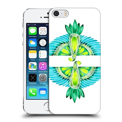 OFFICIAL CAT COQUILLETTE BIRDS Parrot Blue Green Hard Back Case for Apple iPhone 5 / 5s / SE