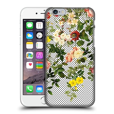OFFICIAL BURCU KORKMAZYUREK FLORAL 2 Points And Flowers Hard Back Case for Apple iPhone 6 / 6s