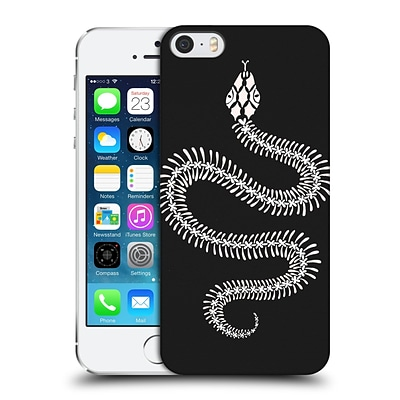 OFFICIAL CAT COQUILLETTE ANIMALS White Ombre Snake Skeleton Hard Back Case for Apple iPhone 5 / 5s / SE