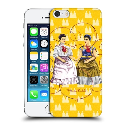 OFFICIAL FRIDA KAHLO SELF-PORTRAITS Yellow Background Hard Back Case for Apple iPhone 5 / 5s / SE