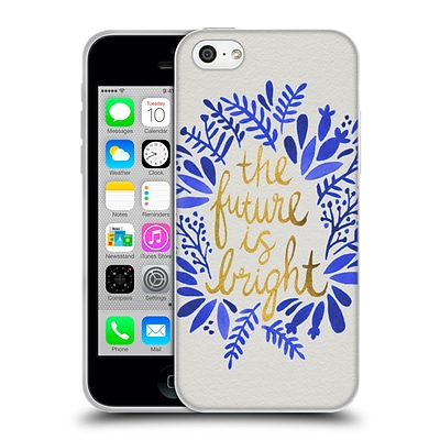 OFFICIAL CAT COQUILLETTE QUOTES TYPOGRAPHY 1 Future is Bright Gold Soft Gel Case for Apple iPhone 5c