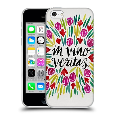 OFFICIAL CAT COQUILLETTE QUOTES TYPOGRAPHY 1 In Wine There is Truth Original Soft Gel Case for Apple iPhone 5c