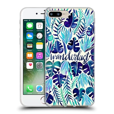 OFFICIAL CAT COQUILLETTE QUOTES TYPOGRAPHY 5 Wanderlust Blues Soft Gel Case for Apple iPhone 7 Plus