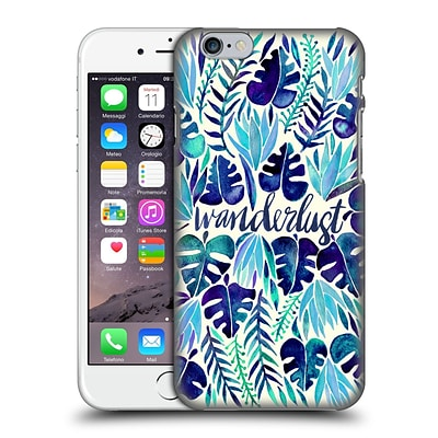 OFFICIAL CAT COQUILLETTE QUOTES TYPOGRAPHY 5 Wanderlust Blues Hard Back Case for Apple iPhone 6 / 6s