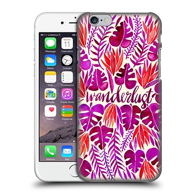 OFFICIAL CAT COQUILLETTE QUOTES TYPOGRAPHY 5 Wanderlust Magenta Hard Back Case for Apple iPhone 6 / 6s