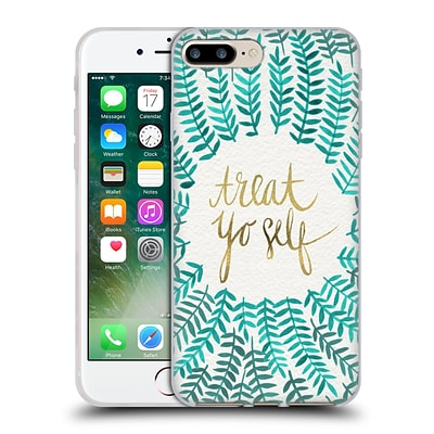 OFFICIAL CAT COQUILLETTE TREAT YO SELF Mint Soft Gel Case for Apple iPhone 7 Plus