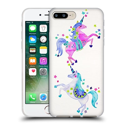 OFFICIAL CAT COQUILLETTE WATERCOLOUR ILLUSTRATIONS Unicorns Pastel Soft Gel Case for Apple iPhone 7 Plus