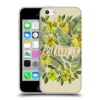 OFFICIAL CAT COQUILLETTE QUOTES TYPOGRAPHY 4 Killin It Yellow Soft Gel Case for Apple iPhone 5c