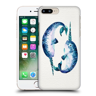 OFFICIAL CAT COQUILLETTE SEA Blue Narwhals Hard Back Case for Apple iPhone 7 Plus