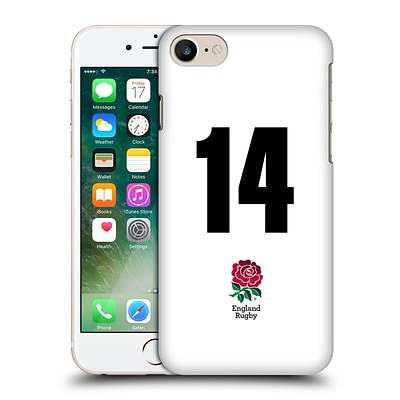 OFFICIAL ENGLAND RUGBY UNION 2016/17 HOME KIT Position 14 Hard Back Case for Apple iPhone 7
