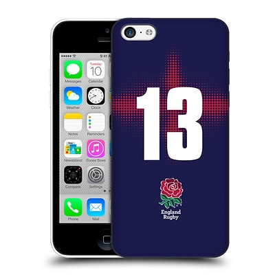 OFFICIAL ENGLAND RUGBY UNION 2016/17 ALTERNATE KIT Position 13 Hard Back Case for Apple iPhone 5c