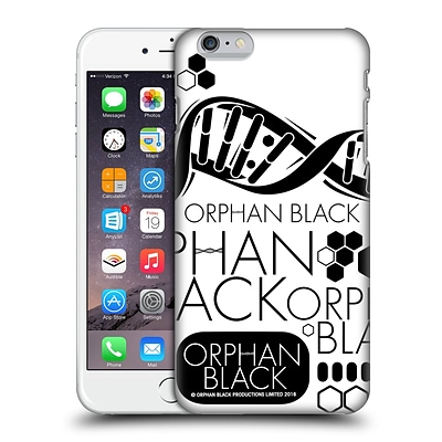 OFFICIAL ORPHAN BLACK LOGO & HELIX Logo Pattern Hard Back Case for Apple iPhone 6 Plus / 6s Plus