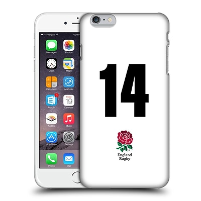 OFFICIAL ENGLAND RUGBY UNION 2016/17 HOME KIT Position 14 Hard Back Case for Apple iPhone 6 Plus / 6s Plus