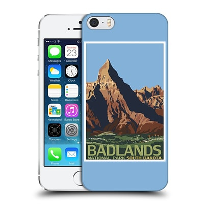 OFFICIAL LANTERN PRESS NATIONAL PARK Badlands Hard Back Case for Apple iPhone 5 / 5s / SE